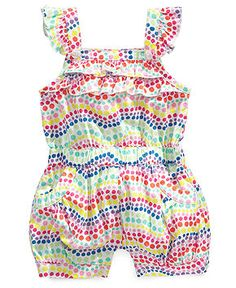 First Impressions Baby One-Piece, Baby Girls Playwear Romper - Kids Baby Girl (0-24 months) - Macy's