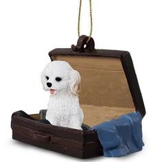 Cockapoo White Dog Tag Along Carrycase Pet Ornament