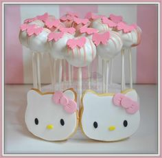 Virginias Cake: CakePops + Galletas Hello Kitty