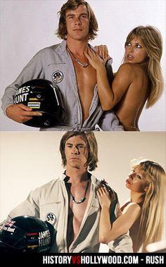 RUSH (2013) Starring Chris Hemsworth, Daniel Brühl, Olivia Wilde based on the rivalry between James Hunt and Niki Lauda during the 1976 Form...