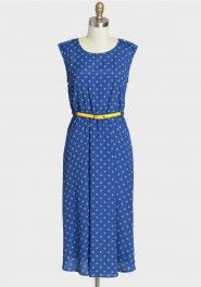 $44.99 heat wave polka dot midi dress