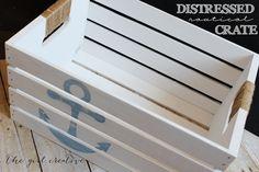 DIY Distressed Nautical Crate - The Girl Creative