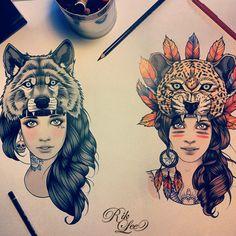 O australiano Rik Lee é ilustrador e fez de Bali, Indonésia, o seu lar. Depois de ver uma imagem de sua autoria no Pinterest, busquei mais sobre seus desenhos. Ele tem um estilo que me lembra a Liz…