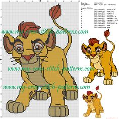 Kion (The lion king) cross stitch pattern