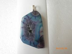 Beautiful Blue/Purple Spider Web Onxy Agate by CustomCraftJewelry, $17.99