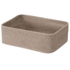 felt baskets for shoe storage in hallway - muji