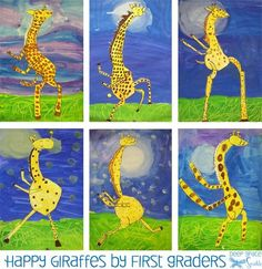 Animal Art Projects, Toddler Art Projects, School Art Projects, Art Lessons For Kids, Art Lessons Elementary, Art For Kids, Art Children, Children Painting, Child Art