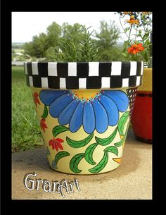 Painted Clay Pots by GranArt                                                                                                                                                                                 More