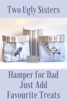 Small Storage Organisation Basket Hamper Gift Idea for Man These fabric baskets would make a lovely Small Storage, Storage Baskets, Storage Organization, Nursery Organization, Hamper Gift, Blue And White Fabric, Blue Cushions, Cosmetic Storage, Basket Decoration
