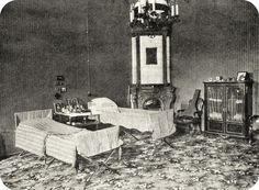 Tsar Nikolai II and Tsarevich Alexei shared a bedroom at Stavka (Military headquarters).