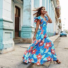 Antigua Dusty Dress in Havana, Cuba @rocky_barnes @nickonken