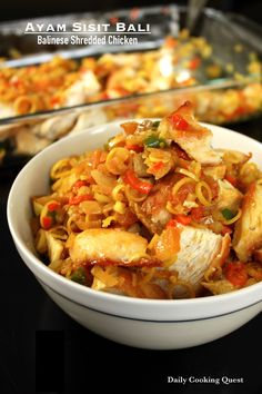 Ayam Sisit Bali - Balinese Shredded Chicken; perhaps use cornstarch to coat instead of flour
