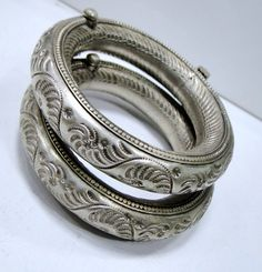 India | Pair of old silver anklets from Rajasthan | 560$