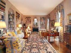 Sadly, the world has lost a design great. I learned, via Habitually Chic , that Albert Hadley has passed. Hadley was graduated from. Victorian House Interiors, Victorian Home Decor, Victorian Homes, Victorian Library, Victorian Bed, Victorian Ladies, Home Library Design, Home Design Plans, House Design