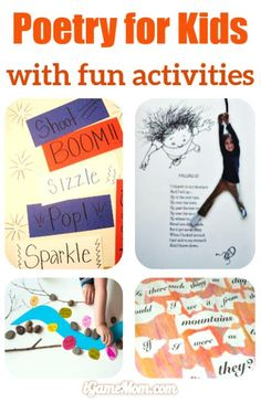 Teaching kids poetry with fun activities.
