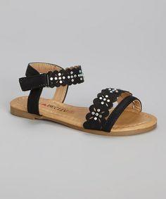 Love this Black Ankle-Strap Katy Sandal by Florecita on #zulily! #zulilyfinds
