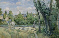 File:Camille Pissarro - Sunlight on the Road, Pontoise - Google Art Project.jpg