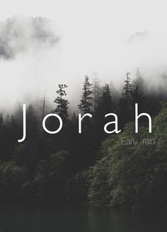 Jorah, early rain, boy, baby, man, male, strong baby names. Unique biblical names. Names that start with J .