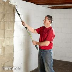 Finishing a basement is a perfect DIY project. For a fraction of the cost of an addition, you can convert basement space to valuable living space. Advances in waterproofing along with new products…More Insulating Basement Walls, Framing Basement Walls, Concrete Basement Walls, Finishing Basement Walls, Basement Insulation, Wet Basement, Basement Bedrooms, Basement Bathroom, Basement Ideas