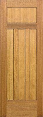 craftsman interior door made from Nyatoh wood.