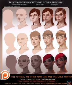 Skintone Ethnicity voice over tutorial pack.promo. by sakimichan on DeviantArt