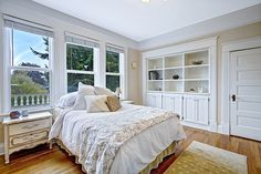 "Traditional Master Bedroom with Crown molding, specialty door, flush light, Bellawood  3/4"" x 5"" matte rustic red oak"