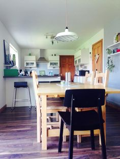 Finished Kitchen project. Grey. Red. Green. Scandi style.
