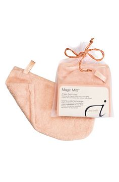 "Jane Iredale ""Magic Mitt"" Makeup remover, at Nordstrom.com for $15.  It removes all makeup, it's a holy grail, going on 4 yrs and it's still like new.  It's microfiber, wet it slightly and use in a circular motion remove makeup, it exfoliates as well, and clean with plain soap and water."