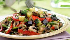 Salteado de verduras con ajitos