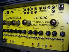 Vacuum tube Drum Machine