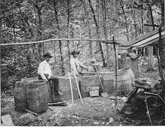 making moonshine...my daddy had some stories about that ; )