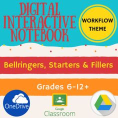 Great price! Any subject, any grade.  Designed for use online with Google Drive. Can be used with Google Classroom, OneDrive or offline with PowerPoint.  Video tutorials here.