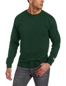 Russell Athletic Men's Basic Cotton Long Sleeve Tee, Green, XX-Large Cotton (heathered colors cotton, polyester) Ribbed collar and cuffs Full-length sleeves Great for active or leisure wear Machine wash, tumble dry Russell Athletic, Athletic Men, Athletic Outfits, Mens Essentials, Mens Clothing Styles, Men's Clothing, Sporty Look, Long Sleeve Tees, Men Sweater
