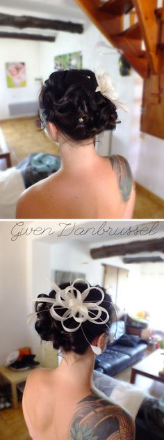 coiffure de mari e cascade de boucles sur le c t r alis e par gwen vanbrussel coiffures. Black Bedroom Furniture Sets. Home Design Ideas