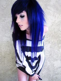 Dark blue. Leda do you ever not have awesome hair???