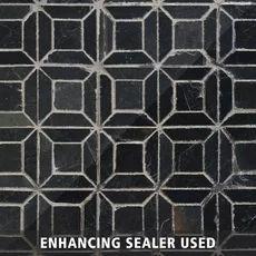 Brushed Squares Slate Mosaic - x - 100047380 Pebble Mosaic, Mosaic Glass, Mosaic Tiles, Polished Porcelain Tiles, Black Tiles, Black Floor, Ceramic Wall Tiles, Brick And Stone, Floor Decor