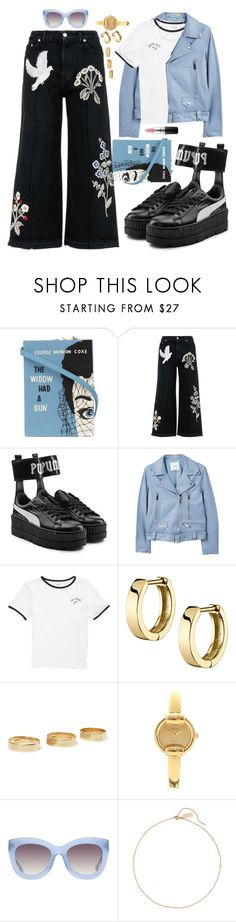 """""""Pretty little bird"""" by jmelwis ❤ liked on Polyvore featuring Olympia Le-Tan, Alexander McQueen, Puma, MANGO, Vans, Loren Stewart, Gucci, Alice + Olivia, Sole Society and MAC Cosmetics"""
