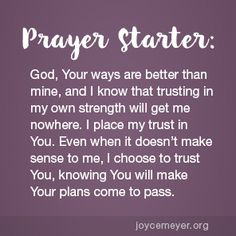 Daily Devo: Learn to Trust Gods Plan for You