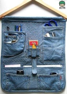 The handmade DIY waste utilization denim
