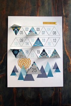 Modern Advent Calendar #AdventCalendar #Christmas #Decor http://www.trendhunter.com
