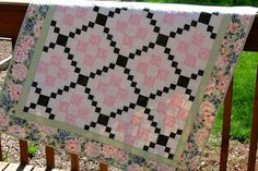 Bed Sheet in the Kitchen: Nine Patch Variation Quilt and Give Away