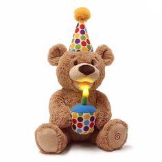 GUND Animated Happy Birthday Teddy Bear Stuffed Animal Plush for sale online Birthday Songs, Singing Happy Birthday, Happy Birthday Wishes, Special Birthday, Birthday Blast, Happy Birthday Teddy Bear, Polka Dot Birthday, Cute Stickers, Plush