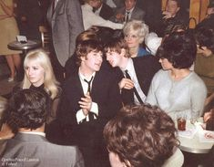 The Beatles - 1964.02.09 Color Photograph That Shows The Guys Going To The Night Clubs Peppermint Lounge. Notice That Ringo Is With His Date, Geri Miller.