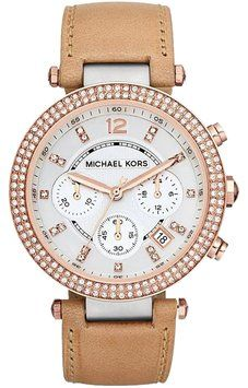 Michael Kors Women's MK5633 Parker Tan Watch. Get the lowest price on Michael Kors Women's MK5633 Parker Tan Watch and other fabulous designer clothing and accessories! Shop Tradesy now