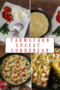 Take your cornbread up a notch with this iron-skillet Farmstand Cornbread with Cheese. Try this easy recipe for a savory veggie filled cornbread that bakes up golden brown and tender. This bread is perfect with soups and salads or even for a snack. Best Bread Recipe, Quick Bread Recipes, Corn Recipes, Cheesy Recipes, Sweets Recipes, Asian Recipes, Cheesy Cornbread, Skillet Cornbread, Homemade Dinner Rolls