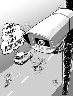 Friday Cartoon - CCTV camera, July 19, 2013