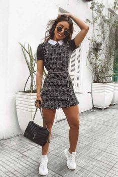 Dress With Sneakers ★ Cute, stylish casual outfits for girls to make y. # Outfits ideas Dress With Sneakers ★ Cute, stylish casual outfits for girls to make y. Casual Outfits For Girls, Classy Outfits, Casual Dresses For Women, Stylish Outfits, Fall Outfits, Dress Casual, Cute Girl Outfits, Elegant Dresses, Sexy Dresses