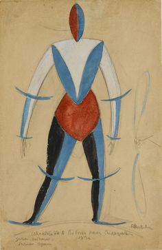 Kazimir Malevich, Aviator in Victory over the Sun, 1913 - Collection Stedelijk…