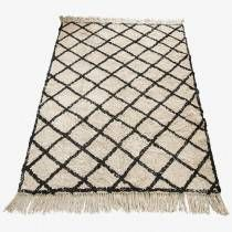 We just love our new Berber Beni Ouarain style cotton rugs! These rugs are one of the most coveted styles in interior design - either one of a kind House Doctor, Boutique Deco, Large Rugs, Cool Rugs, Diamond Pattern, Carpet Runner, Rug Making, Oslo, Home Textile