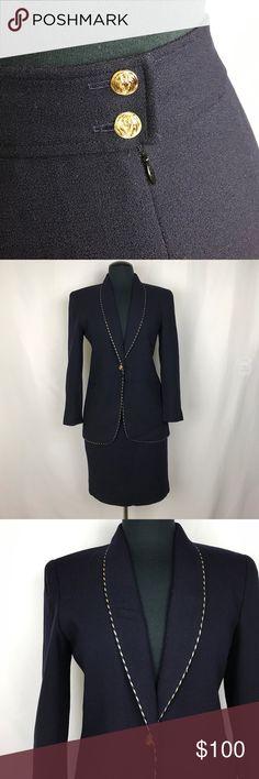 Jones NY • Vintage Navy Blazer/Skirt Suit 😍 Jones New York Jackets & Coats Blazers